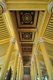 Beautiful detail of Kambawzathardi Golden Palace,Bago, myanmar. Royalty Free Stock Photos
