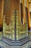 Beautiful detail of Kambawzathardi Golden Palace,Bago, myanmar. Stock Photos