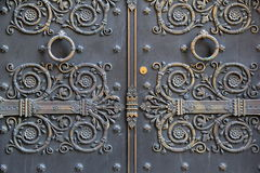 Beautiful detail in old metal doors Stock Photography