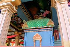 Beautiful detail in paintings and architecture of Sri Siva Subramaniya Temple, Fiji,2015 Stock Photo