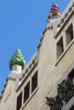 Beautiful detail of the Palace Guell by Gaudi­ in Barcelona, Sp Royalty Free Stock Photo