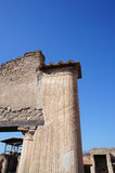 Beautiful detail of Pompeii. The ruined city Royalty Free Stock Images