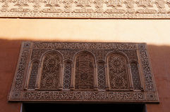 Beautiful detail in Saadian Tombs, Marrakech Stock Images