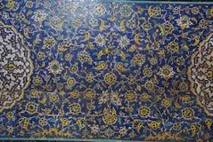 Beautiful detail of Sheikh Lotfollah Mosque in Isfahan, Iran. Royalty Free Stock Image