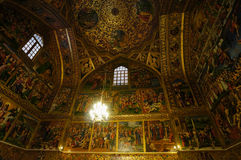 Beautiful detail of Vank Cathedral in Isfahan,Iran. Vank Cathedral or The Church of the Saintly Sisters was built in 1664 Royalty Free Stock Image