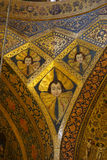 Beautiful detail of Vank Cathedral in Isfahan,Iran. Holy Bible symbols and saints life's pictures inside the old armenian Vank .Vank Cathedral or The Church of Royalty Free Stock Photos