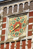 beautiful detail of wall compas on Amsterdam Central Train Stati Stock Image