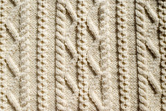 Beautiful detail of woven hand made knit design texture Royalty Free Stock Photography