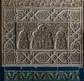 Detail of Alhambra Palace in Granada, Andalusia, Spain. royalty free stock image