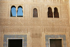 Beautiful detailed wall at alhambra Royalty Free Stock Images
