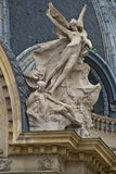 Beautiful details. Beautiful sculpture of a canopy in Paris Stock Image