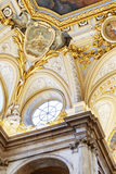 Beautiful details of the interior of in the Royal Palace of Madr Stock Images