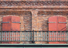 Beautiful details, second story balcony Royalty Free Stock Photo