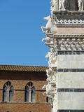 The Beautiful details of Siena Cathedral Stock Images