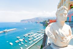 Sorrento, southern Italy. Beautiful details of Sorrento at summer, southern Italy stock photography