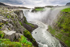 Beautiful Dettifoss waterfall in Iceland Royalty Free Stock Photo