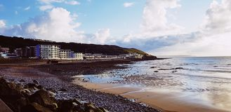 Beautiful Devon Coast. Devon coast with the tide out royalty free stock image