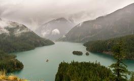beautiful Diablo lake in the mountains Washington state USA stock photos