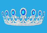 Beautiful diadem feminine wedding on we turn blue  Stock Images