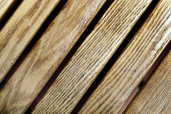 Beautiful diagonal wooden strip texture Royalty Free Stock Images
