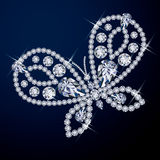 Beautiful diamond butterfly. Royalty Free Stock Photography