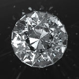 Beautiful diamond with caustic Royalty Free Stock Images