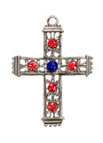 Beautiful Diamond cross Stock Photo
