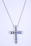Beautiful diamond cross necklace Royalty Free Stock Images