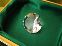 Beautiful diamond crystal stock photo