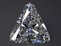 Beautiful  diamond render. With refraction and caustic Royalty Free Stock Photos
