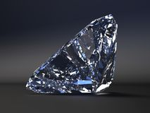 Beautiful  diamond render. Beautiful diamond render with refraction and caustic Royalty Free Stock Image