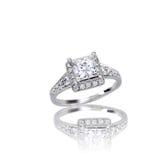 Beautiful Diamond engagement wedding ring Stock Images