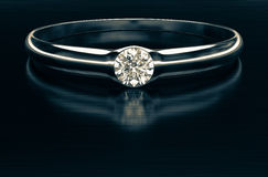 Beautiful diamond ring. A beautiful diamond ring in shades of vintage 3d rendering Royalty Free Stock Photography
