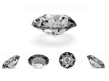 A beautiful diamond. A diamond in several views Stock Images