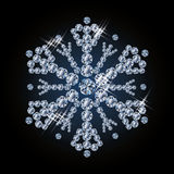 Beautiful diamond snowflake Stock Image