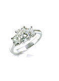 Beautiful diamond wedding engagment band ring solitaire with mul Royalty Free Stock Photos