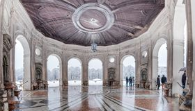 Beautiful Diana temple ,Dianatempel, in central Munich`s Hofgarten in the winter in Munich, Bavaria, Germany Royalty Free Stock Photo
