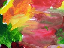 Colorful painted abstract  can use as background Stock Photo