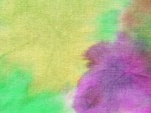 Colorful painted fabric abstract Stock Images