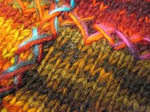 Colorful soft knitted surface texture Royalty Free Stock Photo