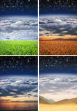 Beautiful different landscapes Stock Photos