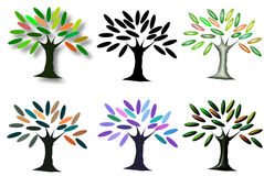 Beautiful digital tree graphic art Stock Images