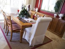 Beautiful Dining Area Stock Photo