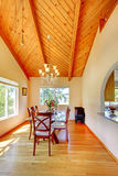 Beautiful dining area with high vaulted ceiling Royalty Free Stock Images
