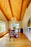 Beautiful dining area with high vaulted ceiling Stock Images