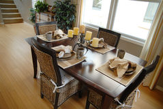 Beautiful dining room area Royalty Free Stock Images