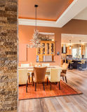 Beautiful Dining Room in New Home Stock Images