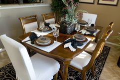 Beautiful dining table Royalty Free Stock Image