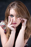 Beautiful dirty-blond girl Royalty Free Stock Photography