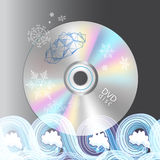 Beautiful disc DVD Stock Image